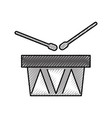 drums musical instrument icon vector image vector image