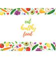 eat healthy food vector image vector image