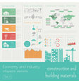 Economy and industry Construction and building vector image vector image
