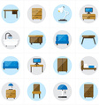 Flat Icons For Furniture Icons vector image