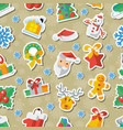 for christmas and new year flat vector image