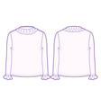 front and back view roll-neck sweater vector image vector image