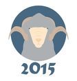 goat symbol coming year vector image vector image