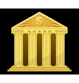 gold bank vector image vector image