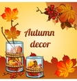 Golden autumn collected in a beautiful decor vector image vector image