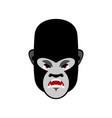 gorilla angry emoji monkey evil emotion isolated vector image
