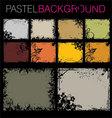 grunge pastel backgrounds vector image