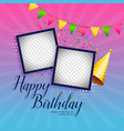 happy birthday celebration background with photo vector image