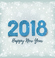 Happy new year 2018 blue winter background