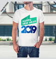 happy new year 2019 design with white t-shirt vector image