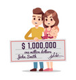 happy young family winning lottery vector image vector image