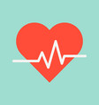 heart signal medical and hospital related flat vector image