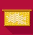honeycomb frame icon flat style vector image vector image