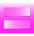 Horizontal Pink Rectangle Banners Snow Winter vector image vector image