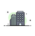 hotel boiling home city business flat line filled vector image
