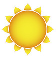 icon of the sun on a white background stylish vector image