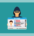 id card data phishing vector image