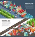 industrial zone horizontal banners vector image vector image