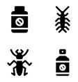insects and control icons vector image