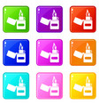 lighter icons 9 set vector image