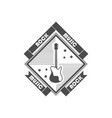 logotype rock music vector image vector image