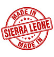 Made in sierra leone red grunge round stamp