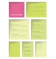 minimalist resume cv template for women vector image vector image