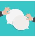 modern flat bubble speech vector image vector image