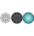 Natural mandala for coloring book Round pattern vector image vector image