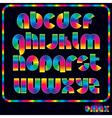 retro neon alphabet vector image vector image