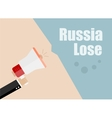 Russia lose Flat design business vector image vector image