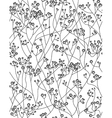 seamless floral pattern flowers of gypsophila vector image