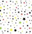 Seamless Star Monochrome Background Template for vector image