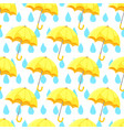 seamless umbrella pattern with hand drawn vector image vector image