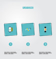 set of trendy icons flat style symbols with smart vector image vector image