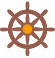 ship steering wheel icon vector image vector image