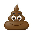 shit icon smiling face poop emoticon vector image vector image