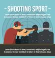 shooting indoor sport concept banner flat style vector image vector image