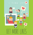 social networking poster vector image vector image