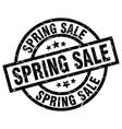 spring sale round grunge black stamp vector image vector image