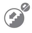 Stairs down simple single color icon isolated on vector image