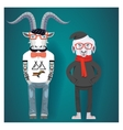 Symbols of Chinese New Year-goat and sheep in vector image vector image