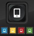 Tablet icon symbol Set of five colorful stylish vector image vector image