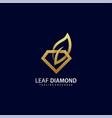 template luxury leaf diamond concept vector image vector image