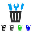 tools bucket flat icon vector image vector image