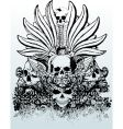 Tribal skull grunge illustration vector | Price: 3 Credits (USD $3)