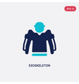 two color exoskeleton icon from artificial vector image
