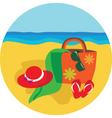 vacation and holiday at beach vector image vector image