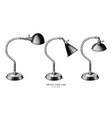 vintage table lamp collection hand draw vector image