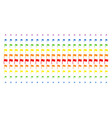waving flag shape halftone spectral array vector image